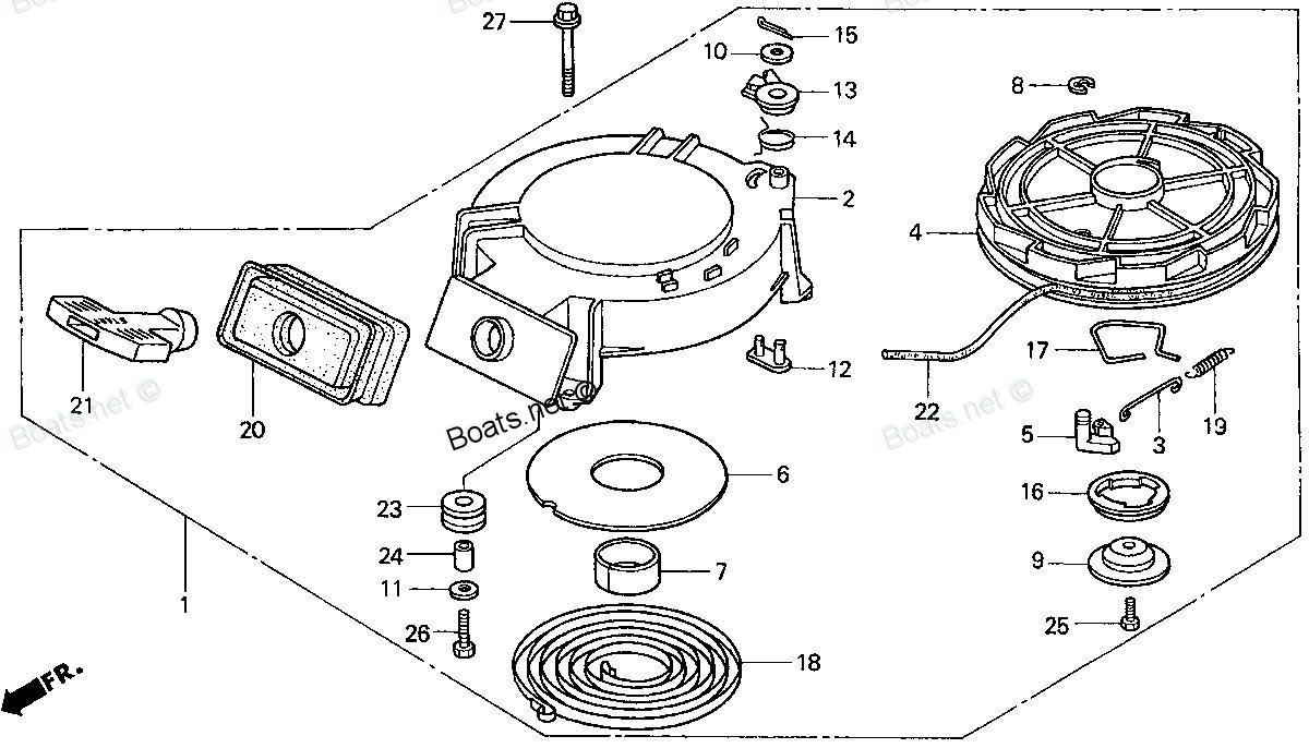 Схема мотора хонда 30